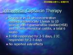 intravesical capsaicin therapy
