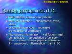possible pathogenesis of ic