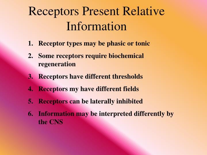Receptors Present Relative Information