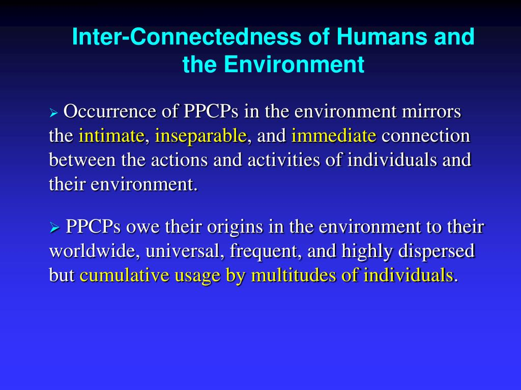 Inter-Connectedness of Humans and the Environment
