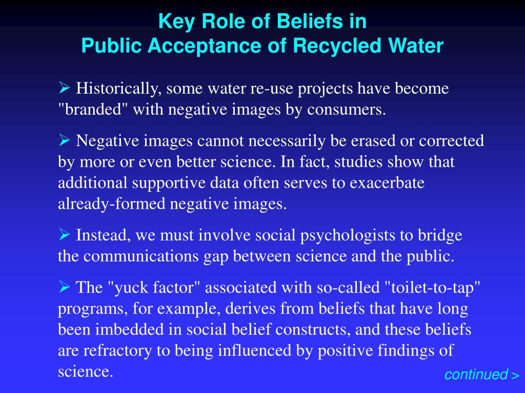 Key Role of Beliefs in