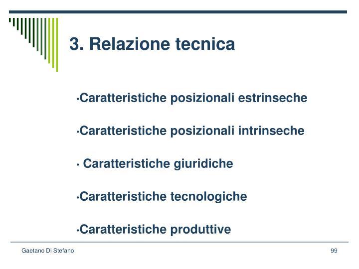 3. Relazione tecnica