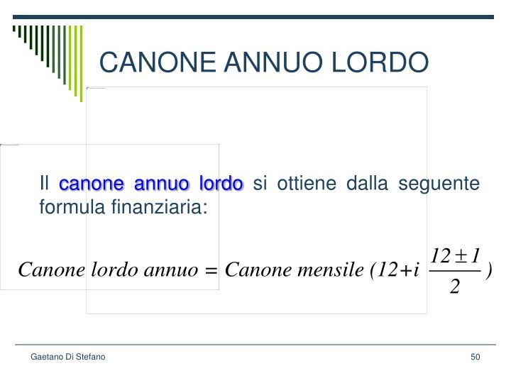 CANONE ANNUO LORDO