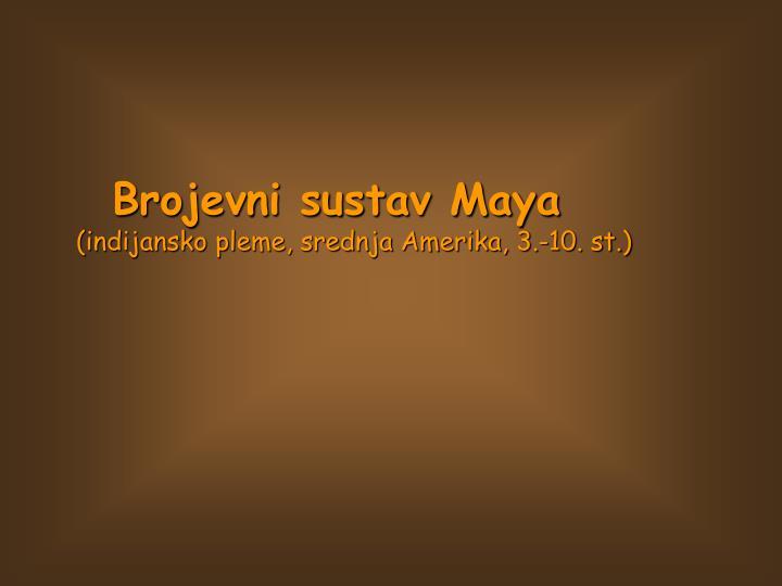 Brojevni sustav Maya