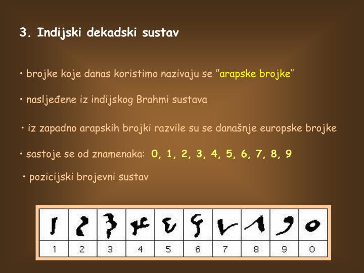 3. Indijski dekadski sustav