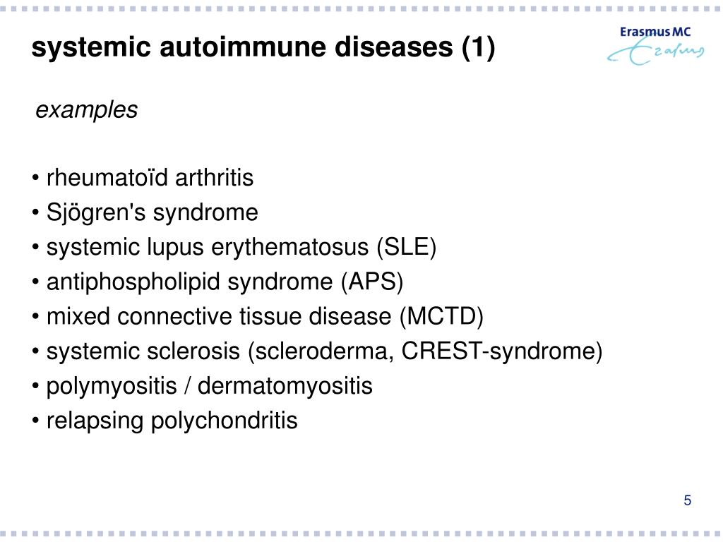 systemic autoimmune diseases (1)