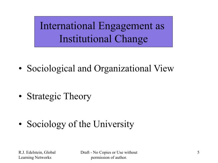 International Engagement as