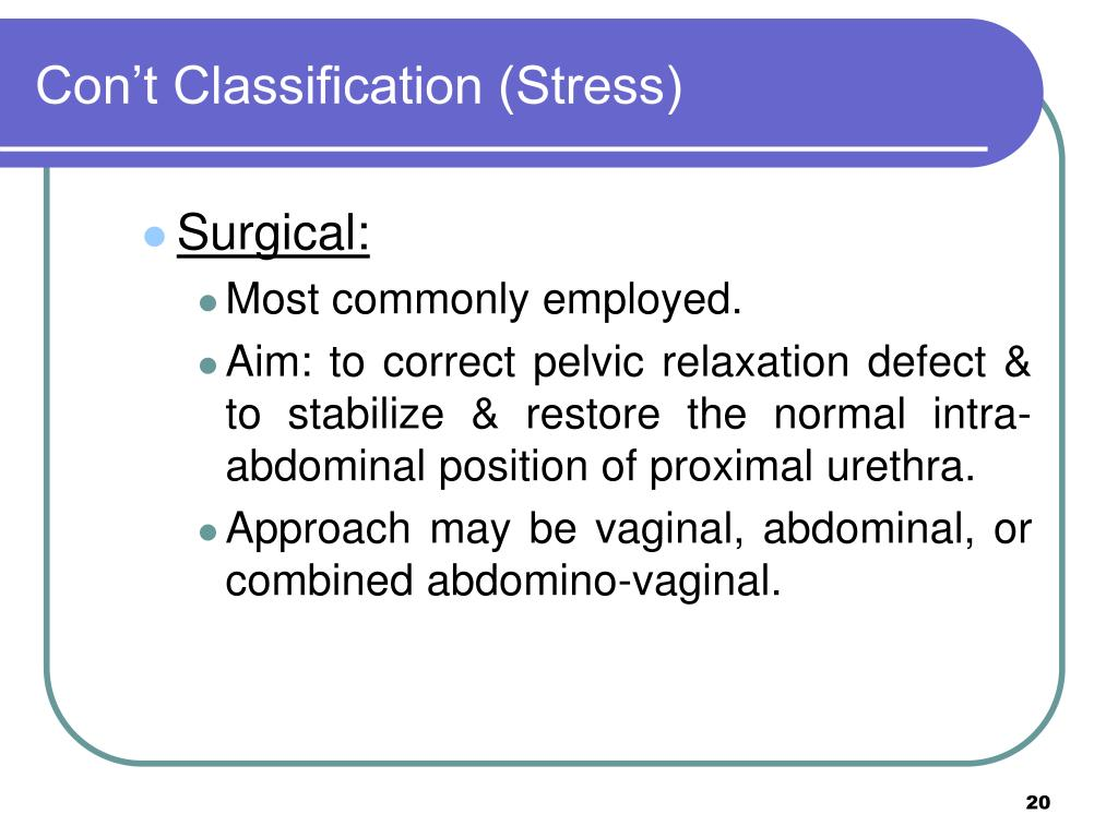 Con't Classification (Stress)