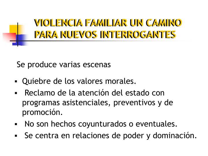 VIOLENCIA FAMILIAR UN CAMINO PARA NUEVOS INTERROGANTES