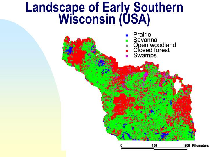 Landscape of Early Southern Wisconsin (USA)