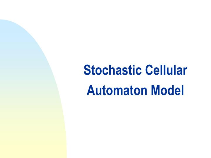 Stochastic Cellular Automaton Model
