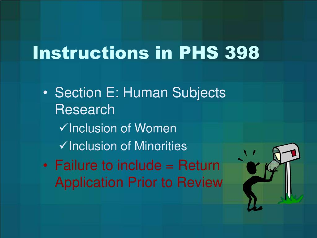 Instructions in PHS 398