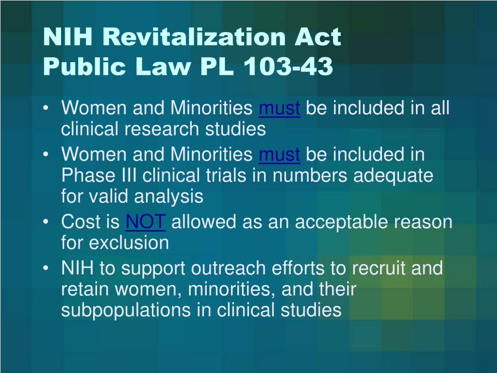 NIH Revitalization Act