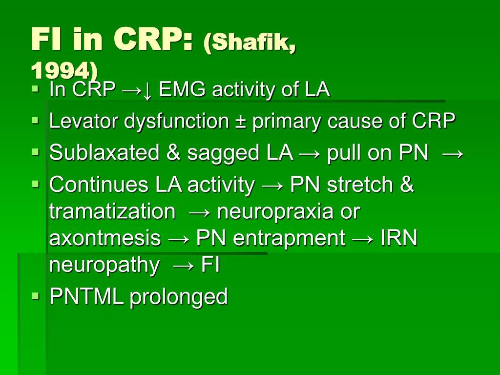 FI in CRP: