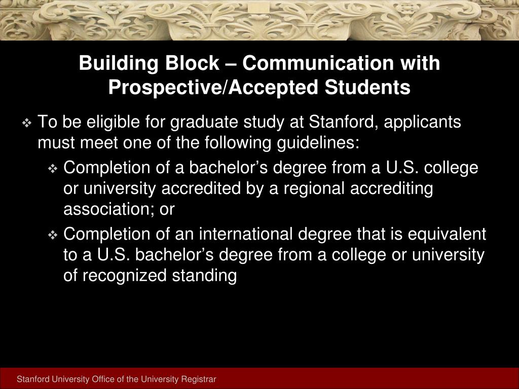 Building Block – Communication with Prospective/Accepted Students