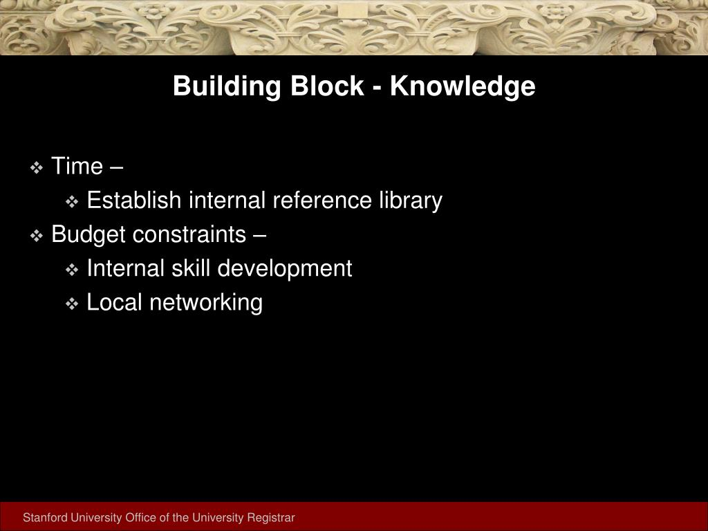 Building Block - Knowledge