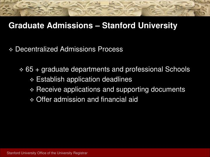 Graduate admissions stanford university