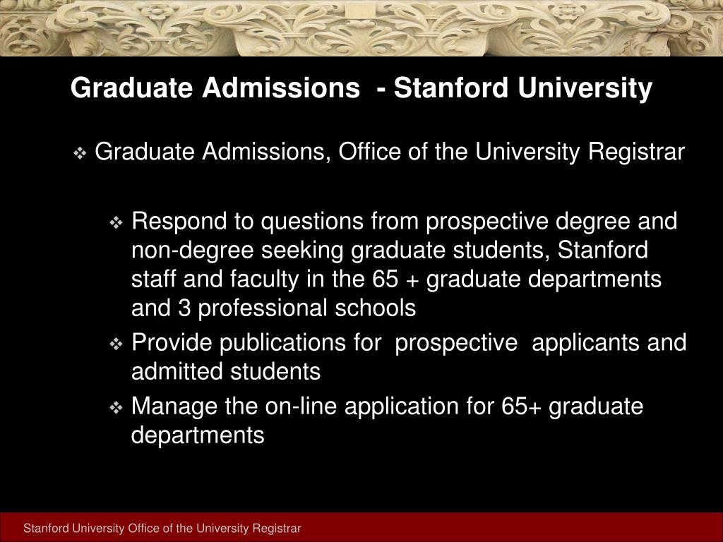 Graduate Admissions  - Stanford University