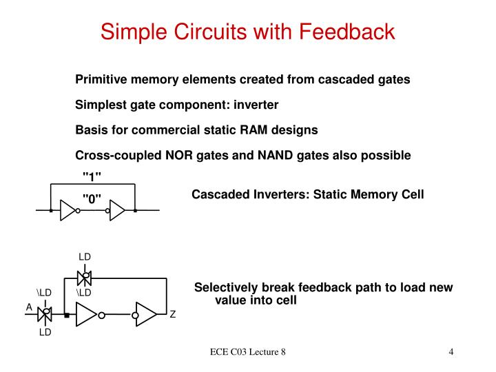 Simple Circuits with Feedback