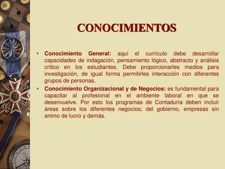 CONOCIMIENTOS