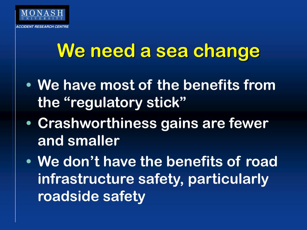We need a sea change