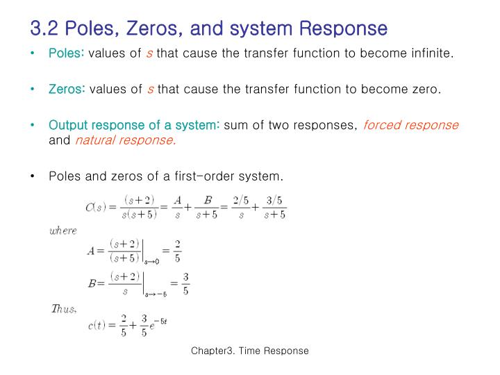 3.2 Poles, Zeros, and system Response