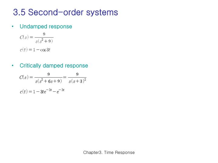 3.5 Second-order systems