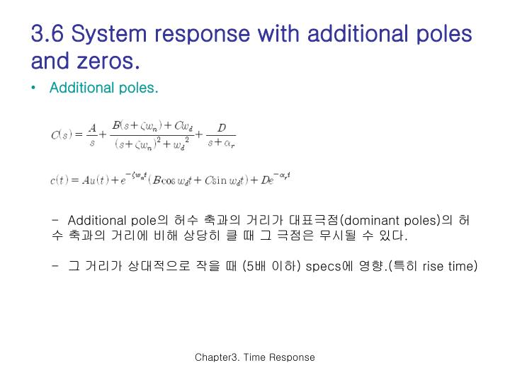 3.6 System response with additional poles and zeros.