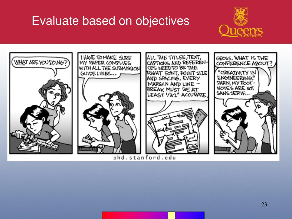 Evaluate based on objectives