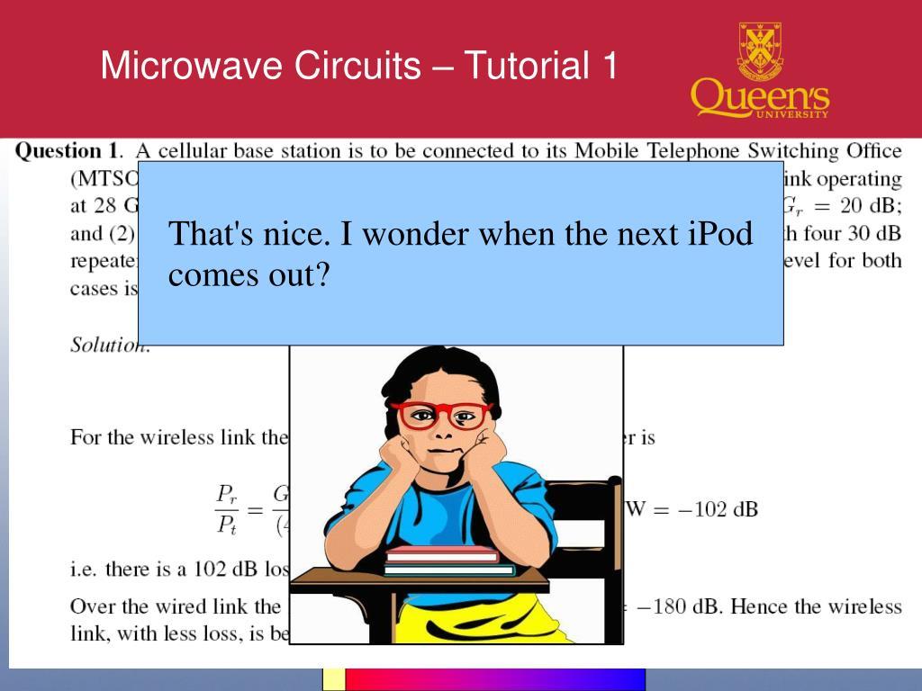 Microwave Circuits – Tutorial 1