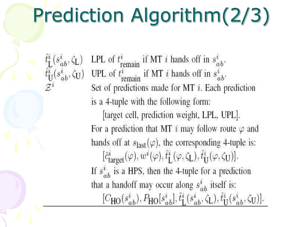 Prediction Algorithm(2/3)