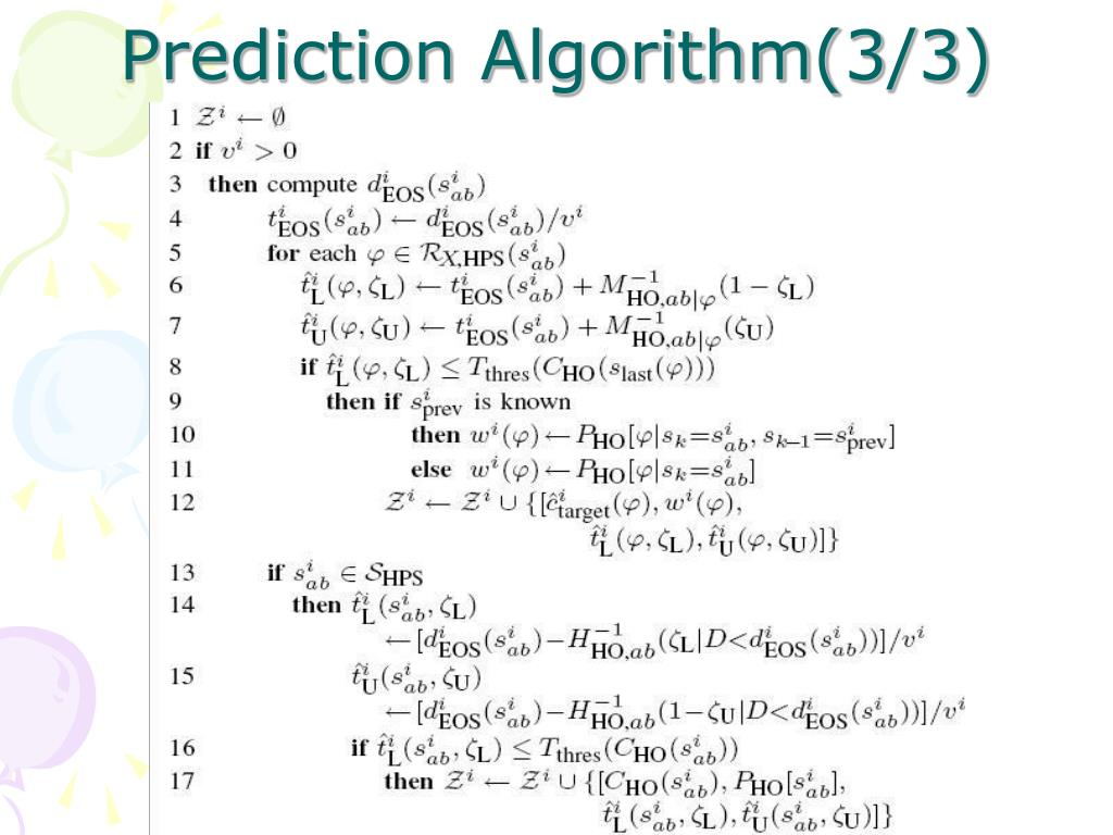 Prediction Algorithm(3/3)