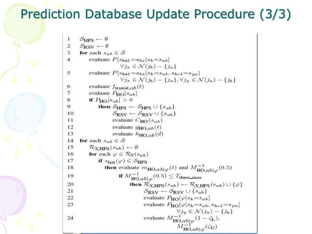 Prediction Database Update Procedure (3/3)