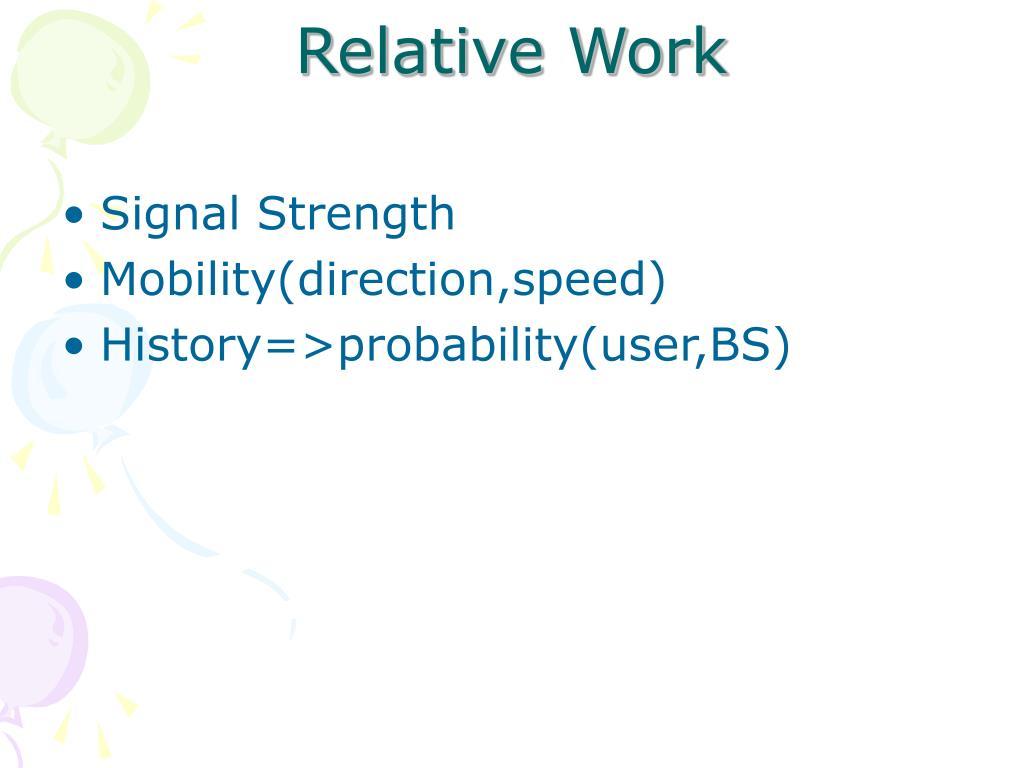 Relative Work