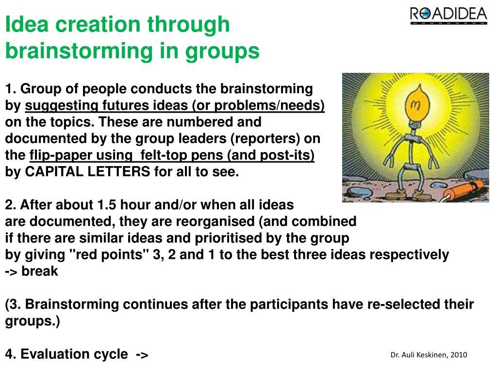 Idea creation through