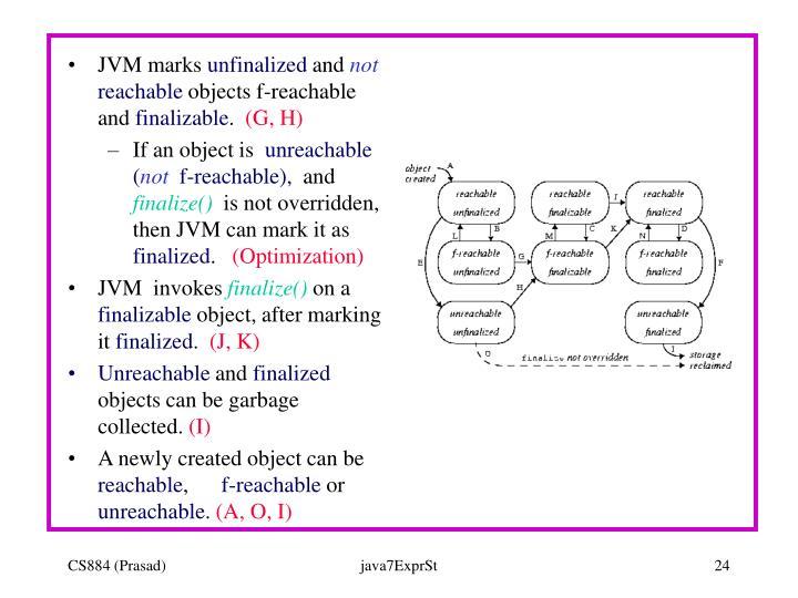 JVM marks
