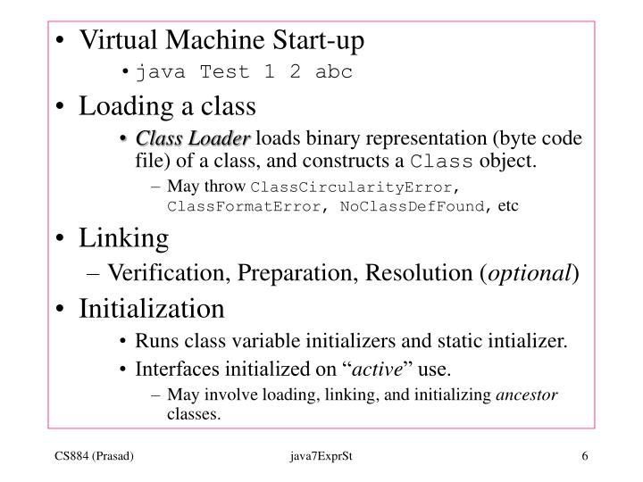 Virtual Machine Start-up
