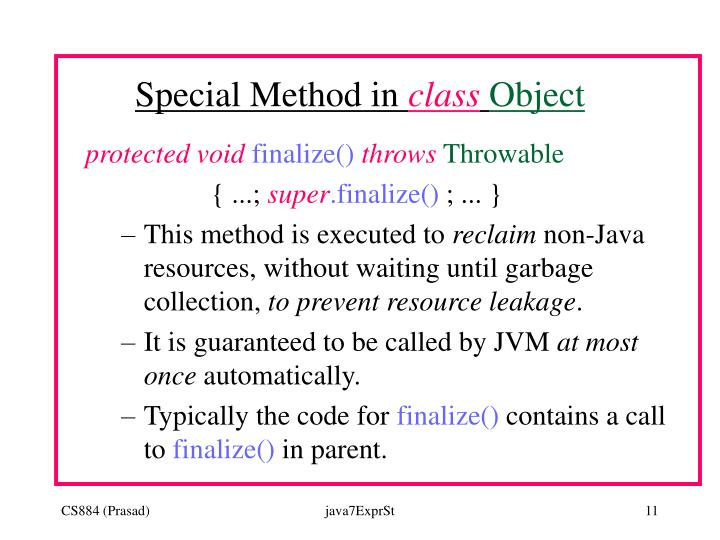 Special Method in