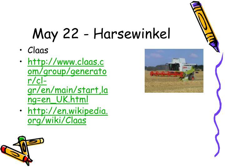 May 22 - Harsewinkel