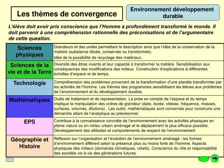 Environnement développement