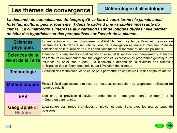 Météorologie et climatologie