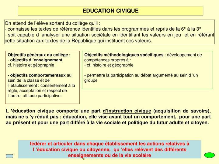EDUCATION CIVIQUE