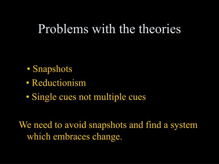 Problems with the theories