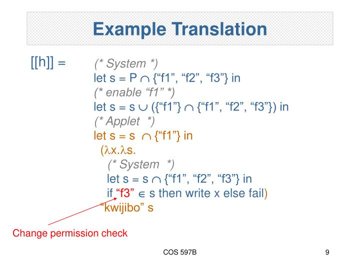 Example Translation