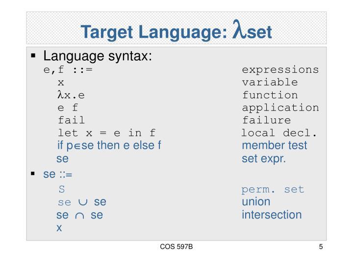 Target Language: