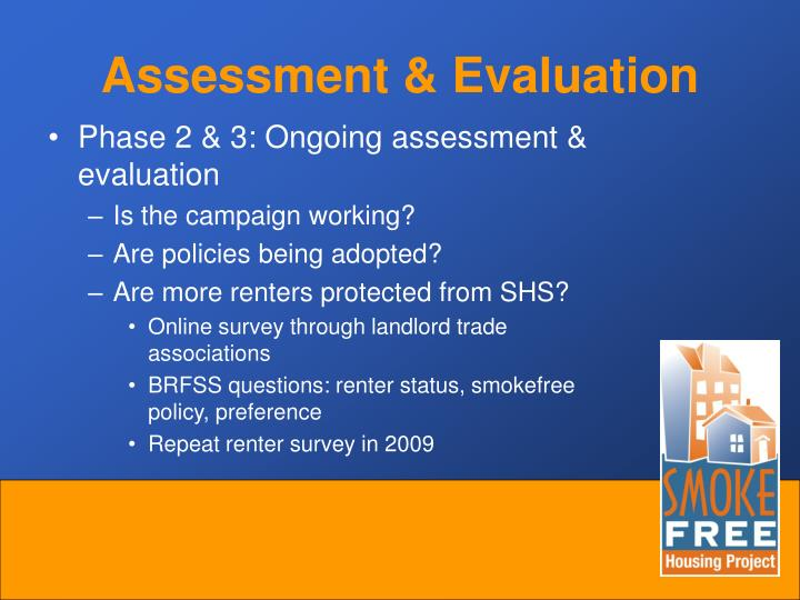 Assessment & Evaluation