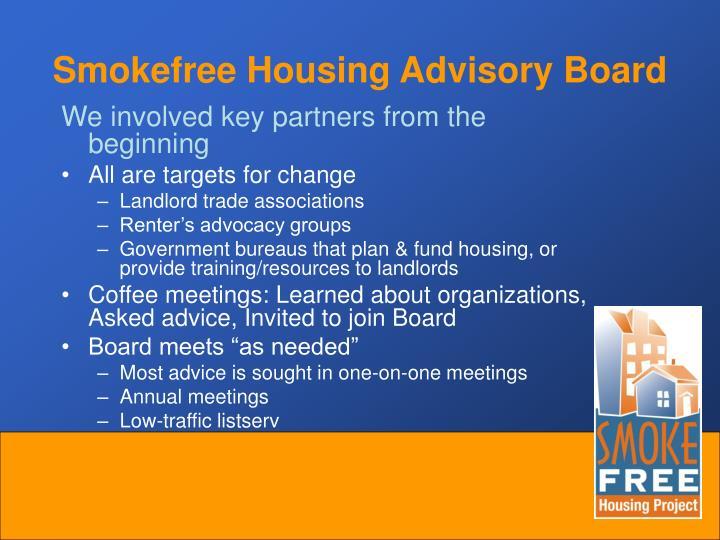 Smokefree Housing Advisory Board