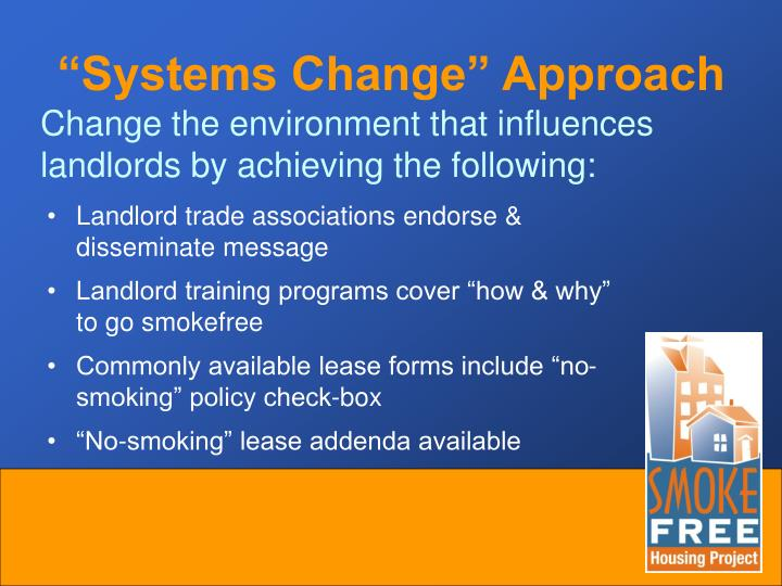 """""""Systems Change"""" Approach"""