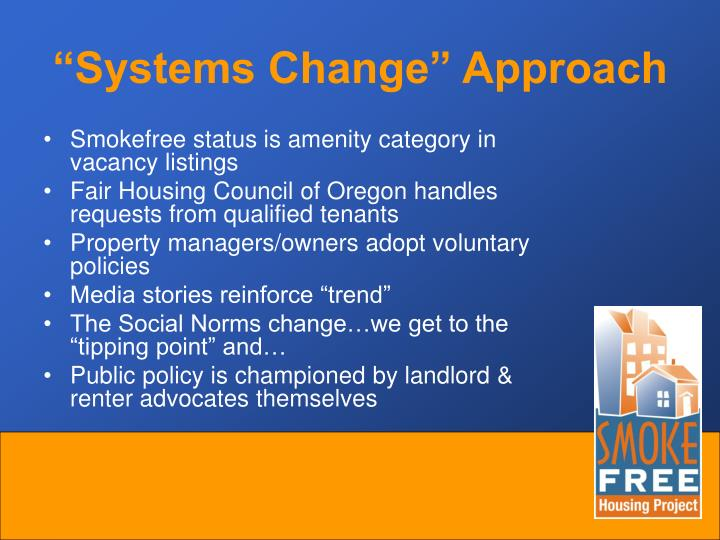"""Systems Change"" Approach"