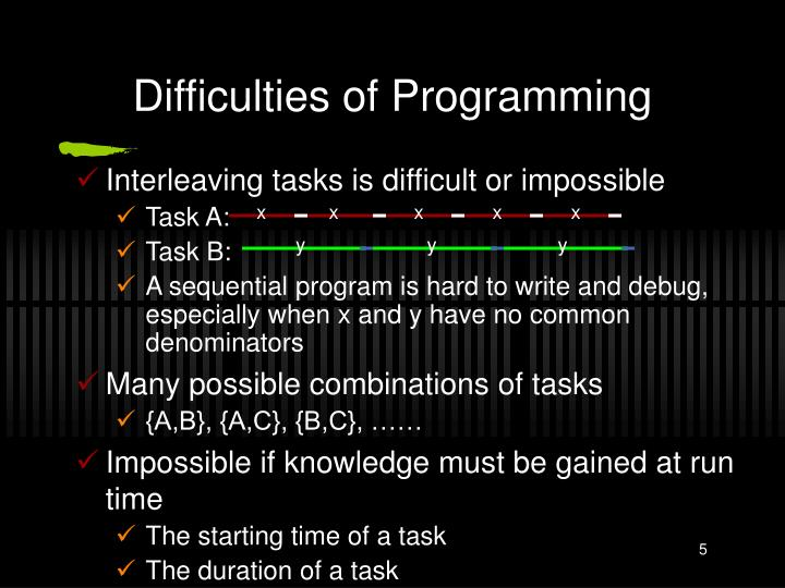 Difficulties of Programming
